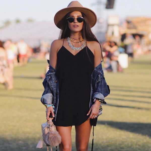 Blank Itinerary looks Perfect at Coachella in the Backlace Dress