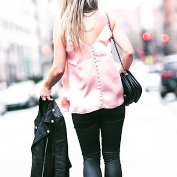 The Perfect Combo: Silk Cami & Leather Jackets