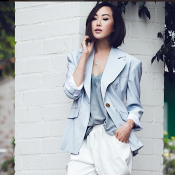 CHRISELLE LIM GOES NEUTRAL IN OUR GREY RACER CAMI