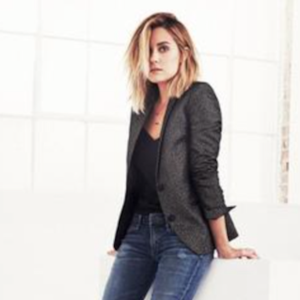 LAUREN CONRAD WEARS CAMI NYC IN HER 'COOL GIRL GUIDE TO HOLIDAY DRESSING'