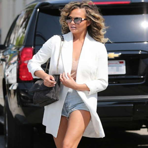 Chrissy Teigen looking glam in our Racer Cami