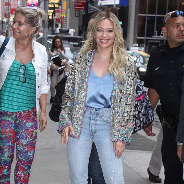 Hilary Duff wears Racer at GMA