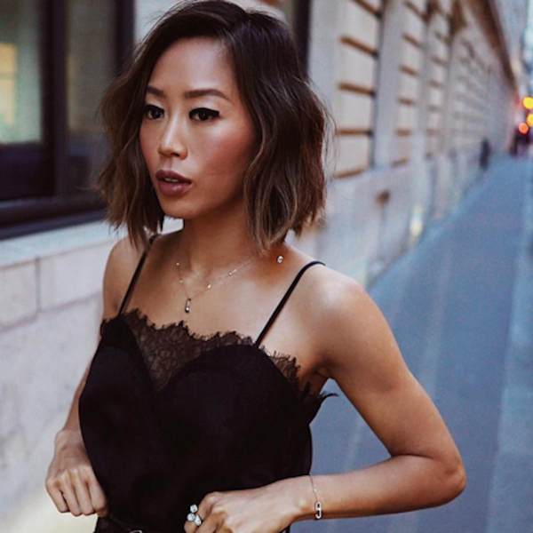Aimee Song in the Sweetheart Cami at PFW