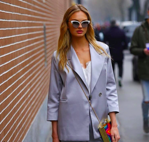 Romee Strijd Street style cami nyc