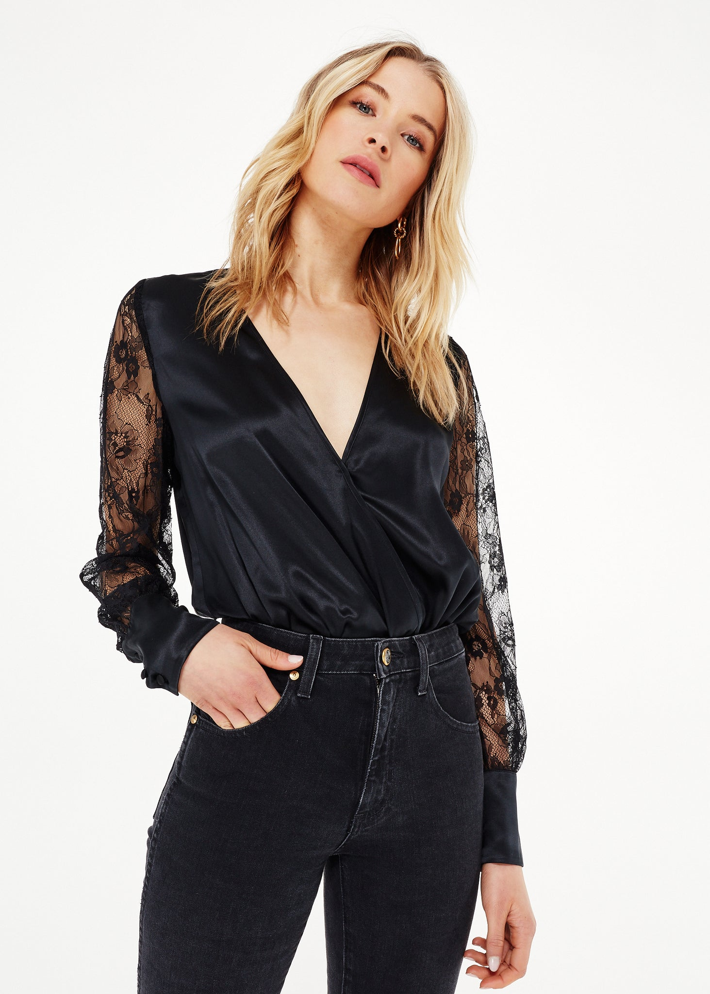 Image of Bette Bodysuit Black