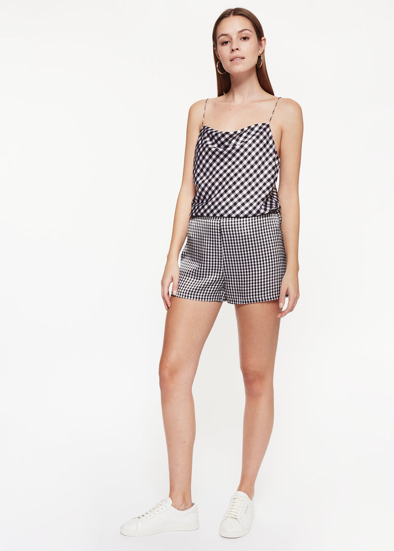 Axel Cami Black Gingham