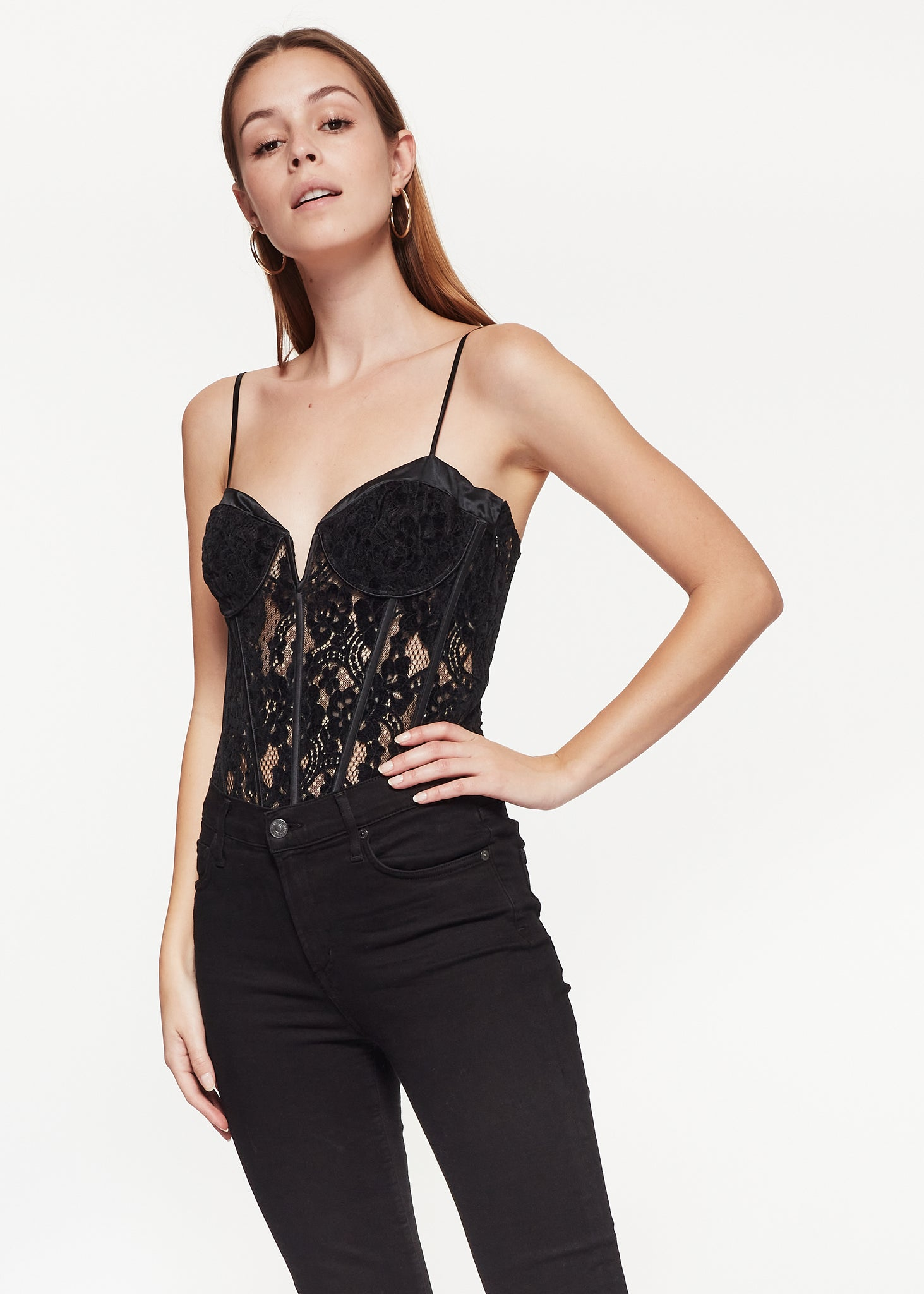 Image of Anne Bodysuit Black