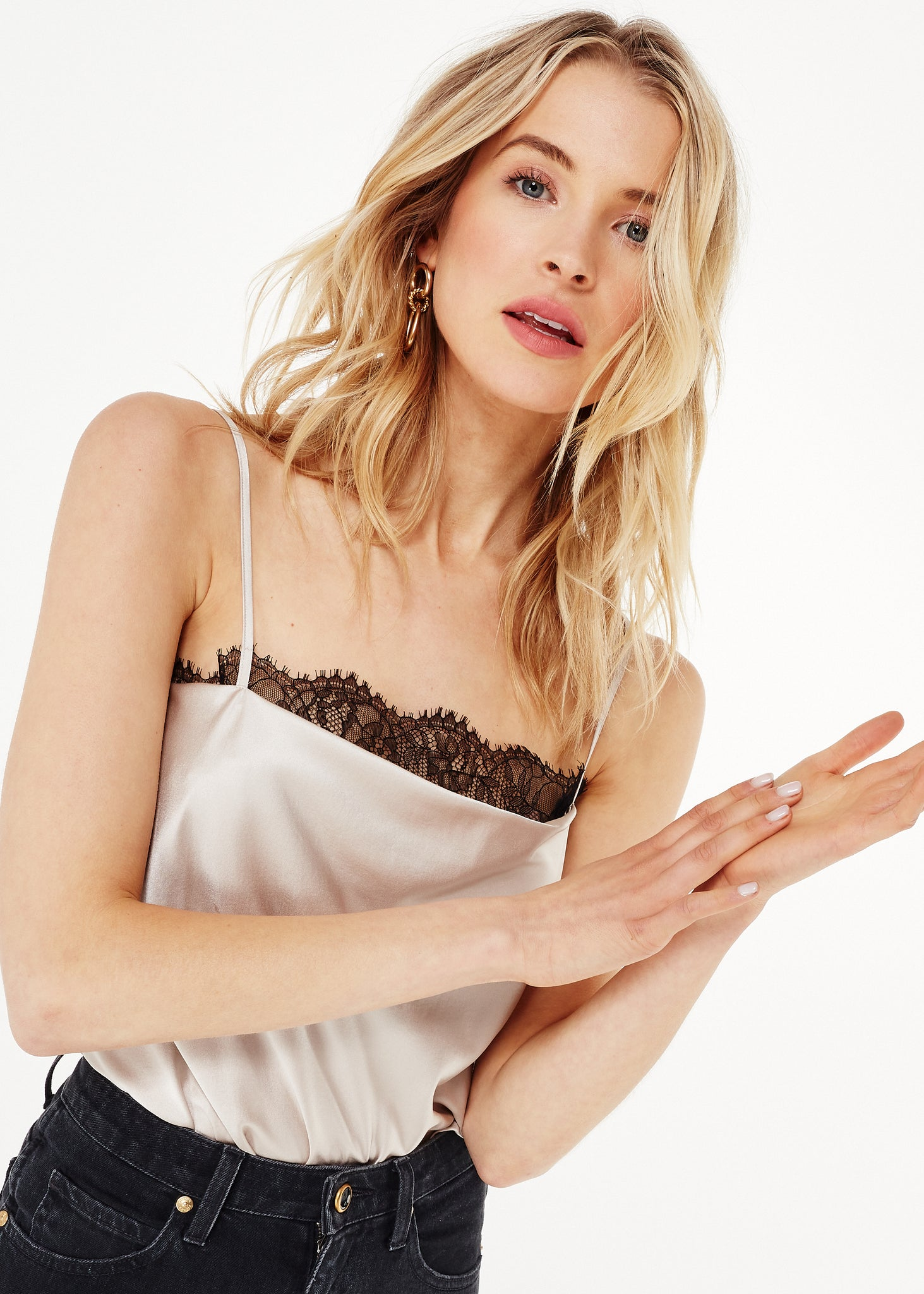 Image of Romy Bodysuit Oat/Black