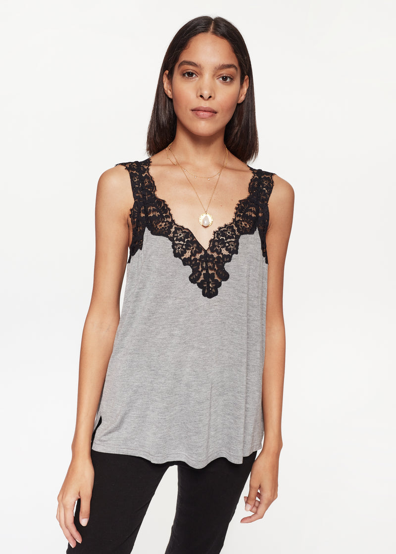 Leia Jersey Cami Heather Grey