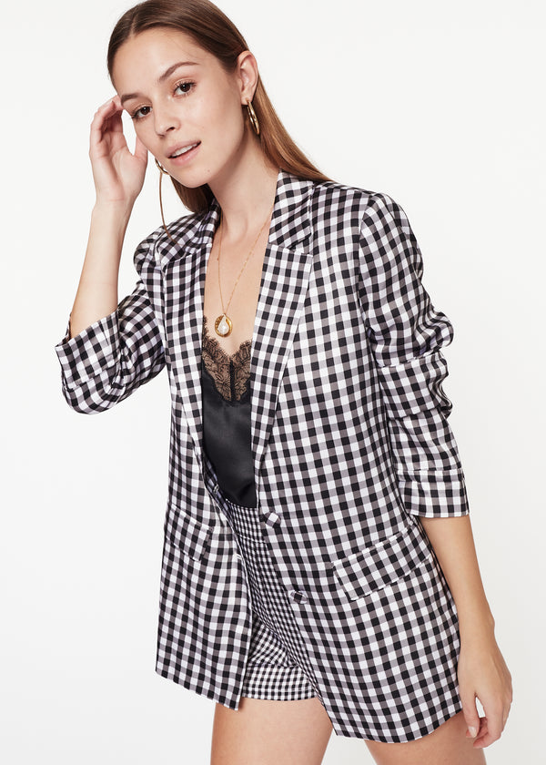 Owen Blazer Black Gingham