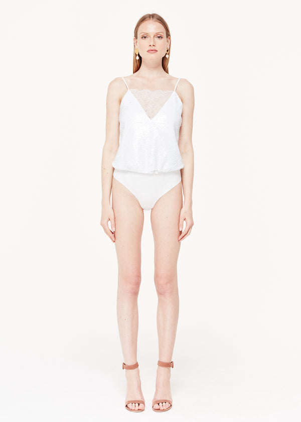 The Trish Bodysuit White