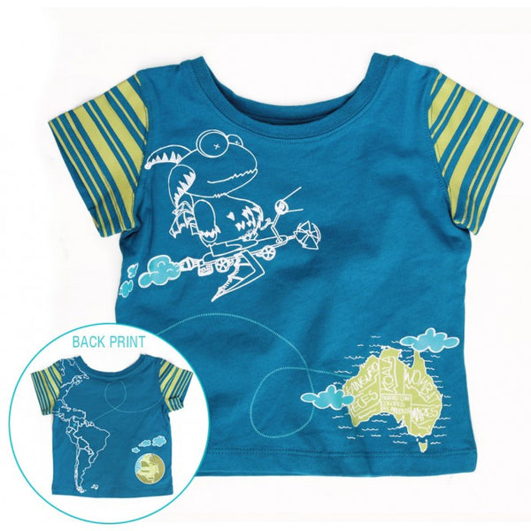 Blue Map T-shirt  Amor Amor - 1