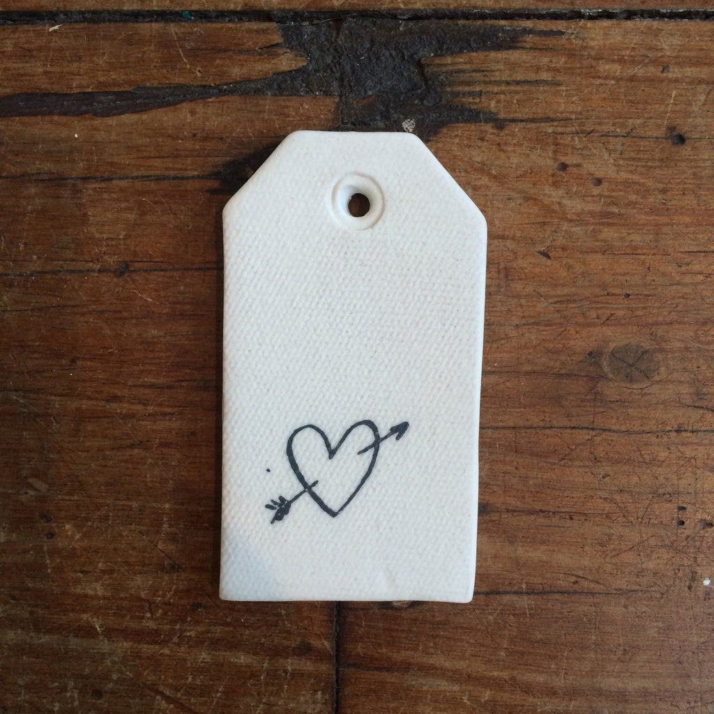 Ceramic Tag New Heart Robert Gordon - 2