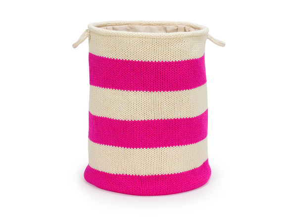 Knitted Laundry Hamper Blue Annabel Trends - 1