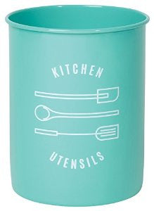 Utensil Crock Tin Turquoise Now Design - 2