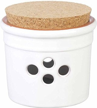 Ceramic Garlic Pot with Cork Lid  Parlane