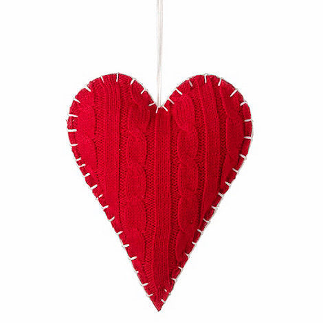 Knitted Hanging Heart  Parlane