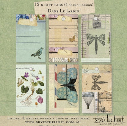 Dans Le Jardin Series Gift Tags  Skye's The Limit - 1
