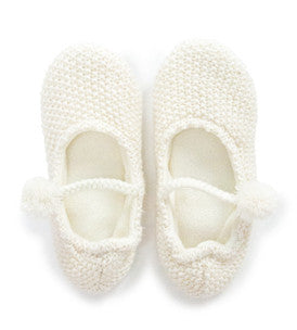 Mary Jane Slippers L / Cream Annabel Trends - 1