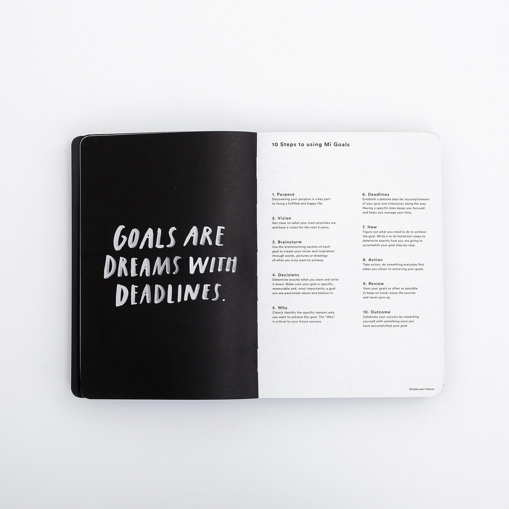 Bianca Cash Goals Book Black | Gold  MiGoals - 2