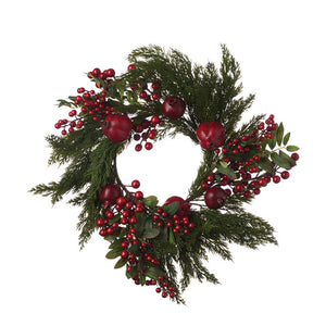 Faux Berry & Pomegranate Wreath  Citta Design