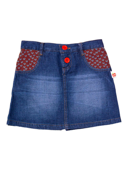 Dusty Denim Skirt  Oobi - 1
