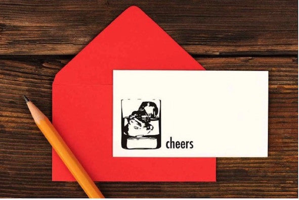 Cheers Enclosure Card  Ruff House Art