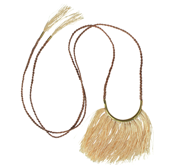 Sand Fringe Necklace  Lisa Carney Design - 1