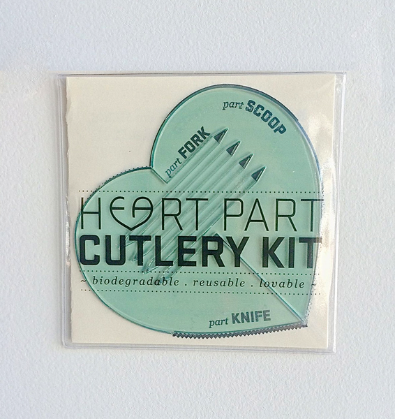 Heart Part Cutlery Kit Mint Frosting iHeart This - 1