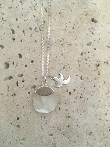 Mother of Pearl + Charm Necklace