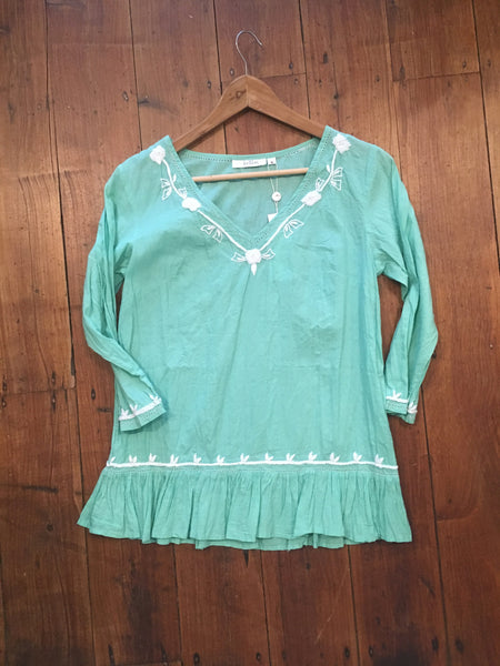 Ruby Top Holiday Trading Corsica Green