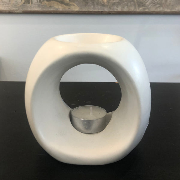 Ceramic Oil Burner | Matt White
