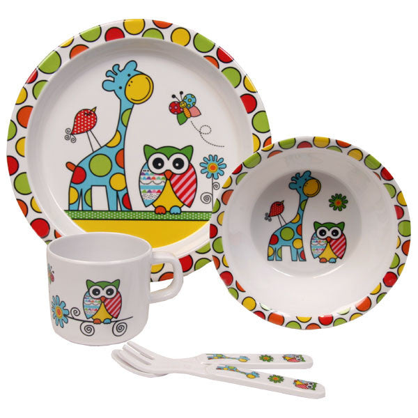 Melamine Dinner Set Toot Cute Alluring Linens - 1