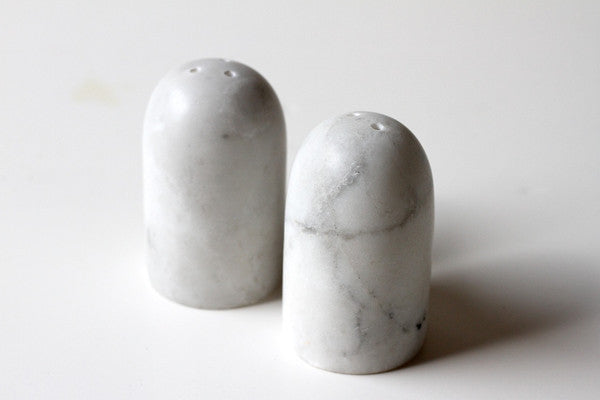 Marble Salt & Pepper Shakers  Indigo Love Collectors