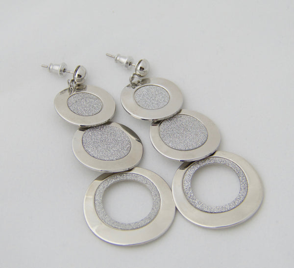 Multi Hoop  Fashion Earrings Silver ... - 1