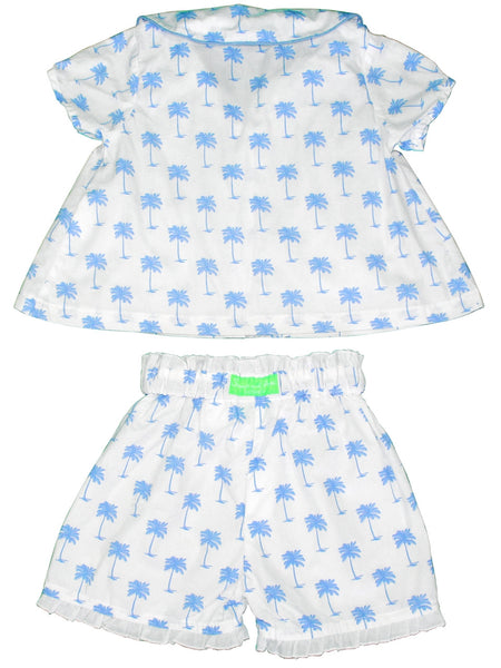 Palm Sunday Blue Girls PJ Set  Sant and Abel - 1
