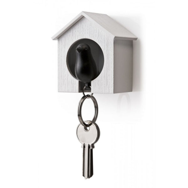 Qualy Single Sparrow Keyring Black Qualy - 1