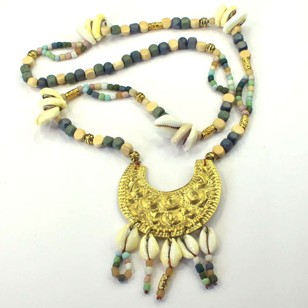 Crescent Moon Necklace Gold Lisa Carney Design - 1