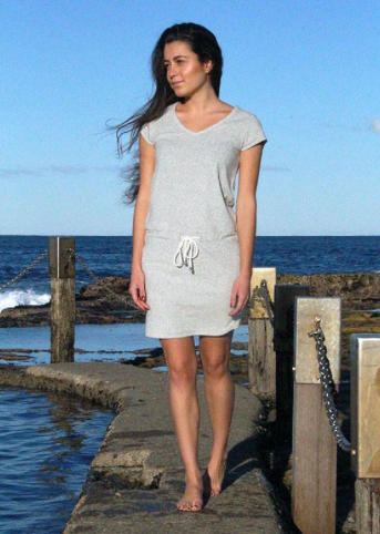 Coogee Grey Beach Dress - Ocean Light