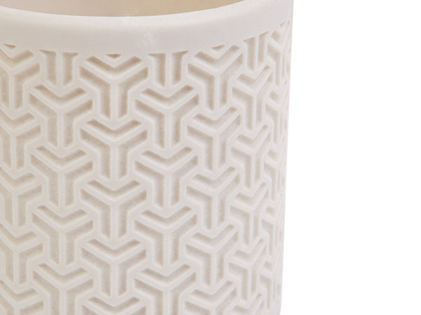 Shadow Porcelain Chevron Votive White Papaya - 1
