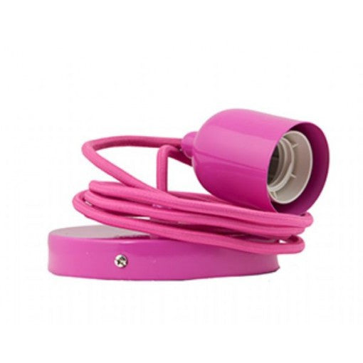 Bulb Holder & Flex Hot Pink General Eclectic - 1