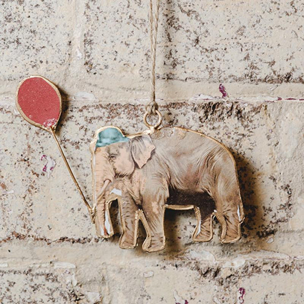 Elephant with Balloon - Multicolour Ruby Star