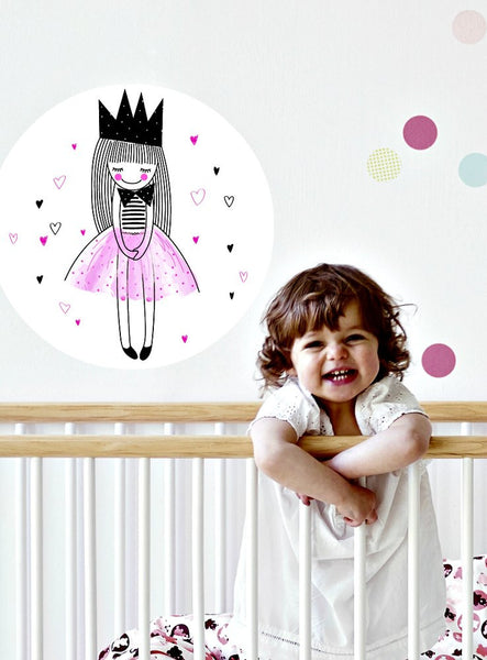 Princess | Moveable Wall Dot Love Bomb Design