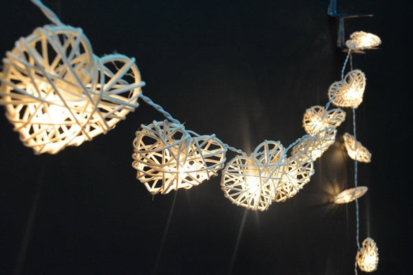 Lite Up Rattan Heart Garland  Florabelle - 1