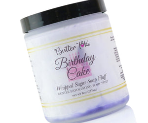 Birthday Cake Whipped Sugar Soap Fluff 8oz