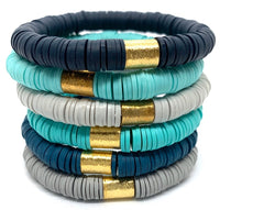 Heimish Solid Colored Stretch Bracelets - 22 Colors