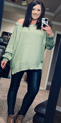 Slouchy Shoulder Knit Sweater