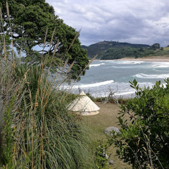 Taylor and Bell Tents GLAMPING at Orua Beach House