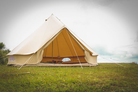 5M glamping canvas bell tent