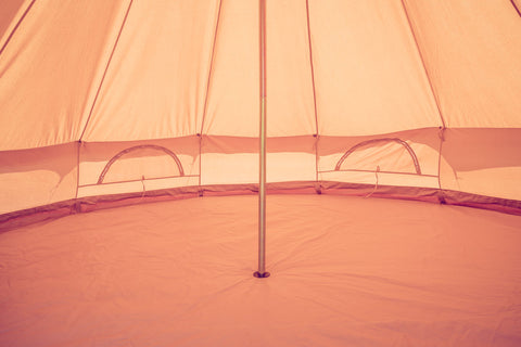 Half moon windows in the 4M glamping bell tent